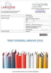 TARIF JANVIER 2016 Larousse
