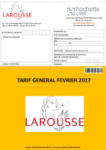 Tarif Février 2017